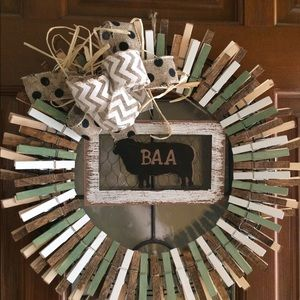 Other - Wooden Clothespin Wreath